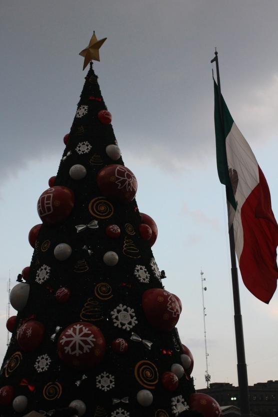 xmas tree at the Zocalo