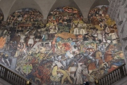 Diego Rivera's paintings at the National Palace