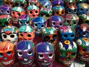 colorful skulls