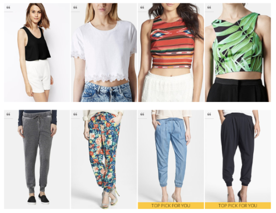 Cropped Tops & Jogger Pants