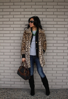 January: Leopard Faux Fur & Preppy Stripes
