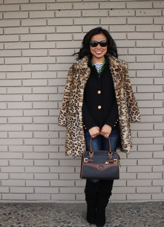 7bd291895fe3 I always associate a faux fur coat – and a leopard printed one at that –  with a night out on the town or some other fancy occasion.