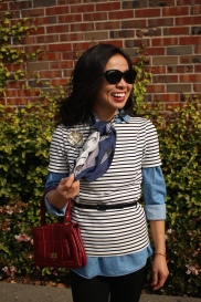 February: Preppy Stripes and Casual Chambray
