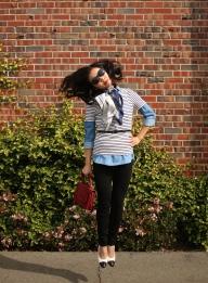 February: Preppy Stripes & Casual Chambray
