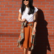 April: A Skirt and Shirt Around the Waist