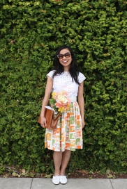 May: Eyelet Blouse and Citrus Hues